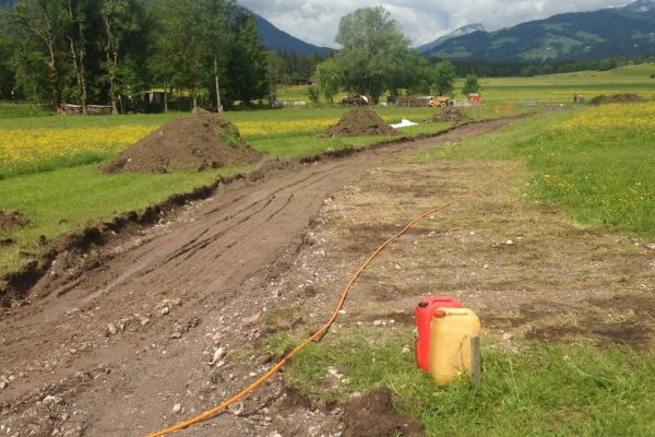 Baustelle am Feld