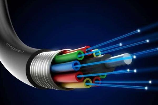 Aufbau eines Glasfaser-Kabel
